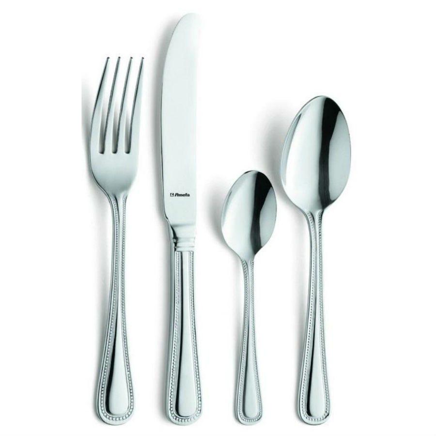 Image of Amefa Monogram Bead 24-Piece Cutlery Set