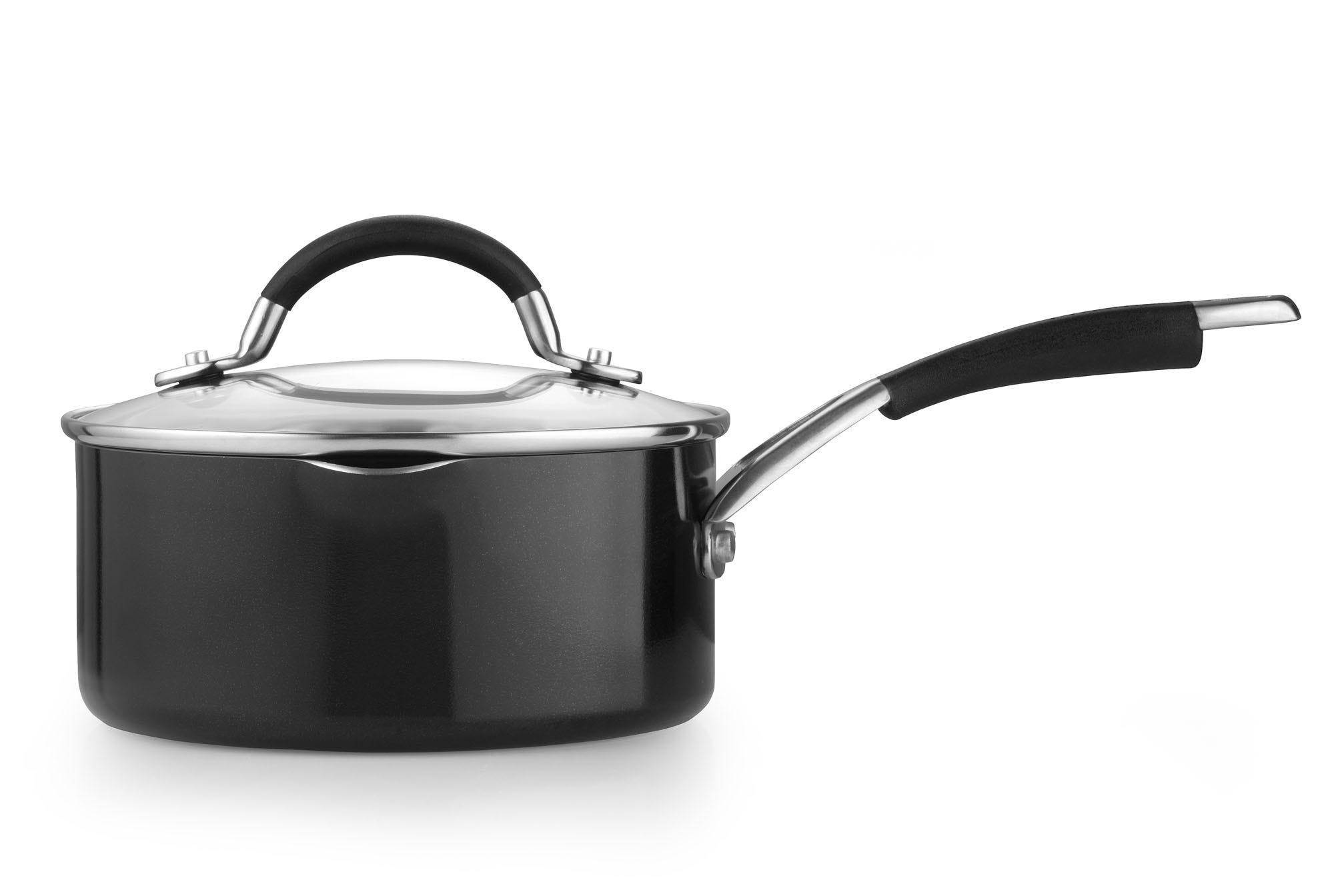 Prestige Inspire 18cm/1.9L Aluminium Saucepan - Black