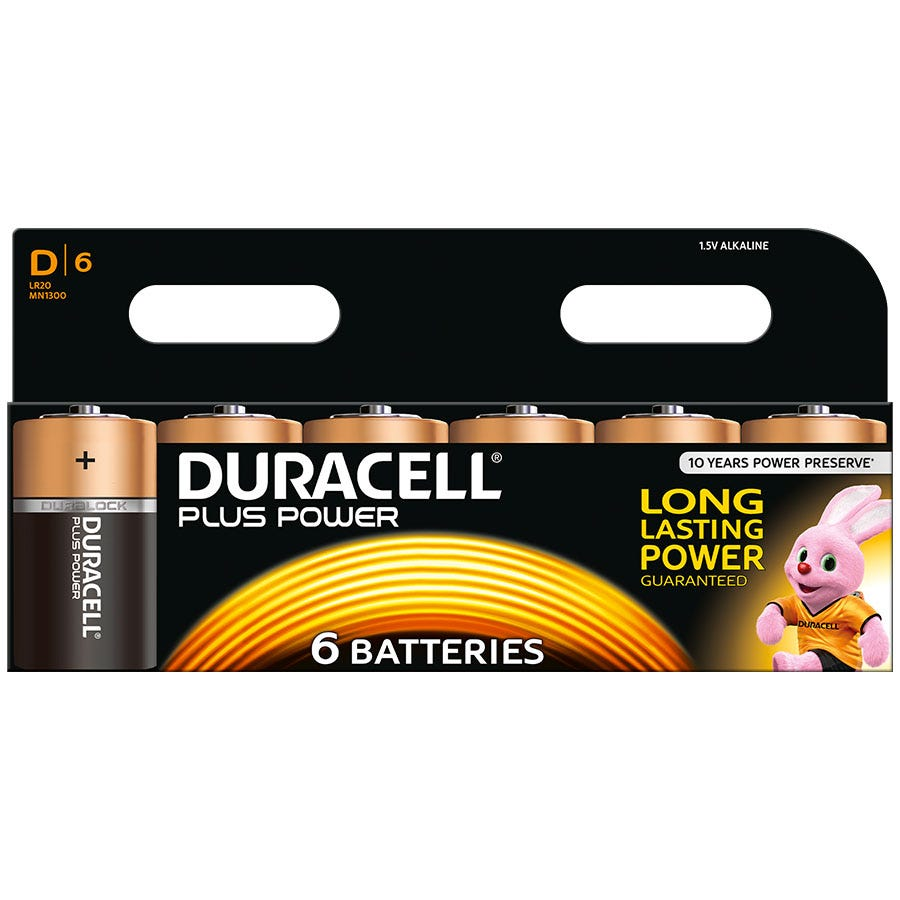 Compare retail prices of Duracell Plus Power D Size Batteries Pack of 6 to get the best deal online