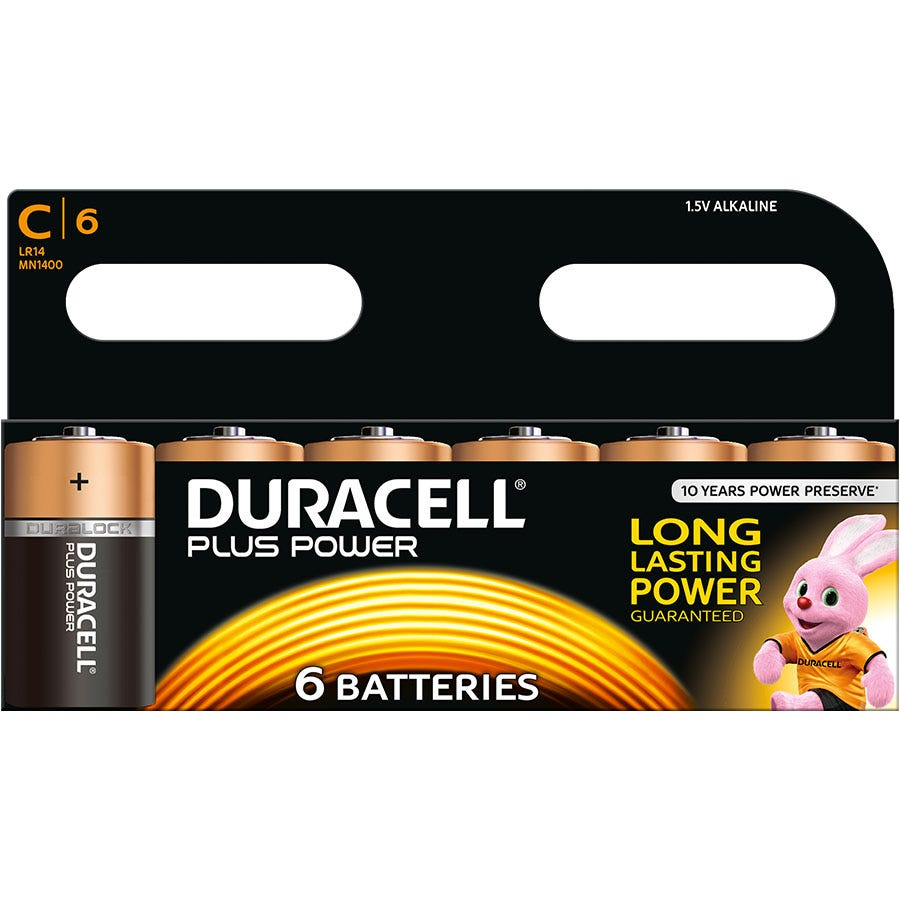 Compare retail prices of Duracell Plus Power C Size Batteries Pack of 6 to get the best deal online