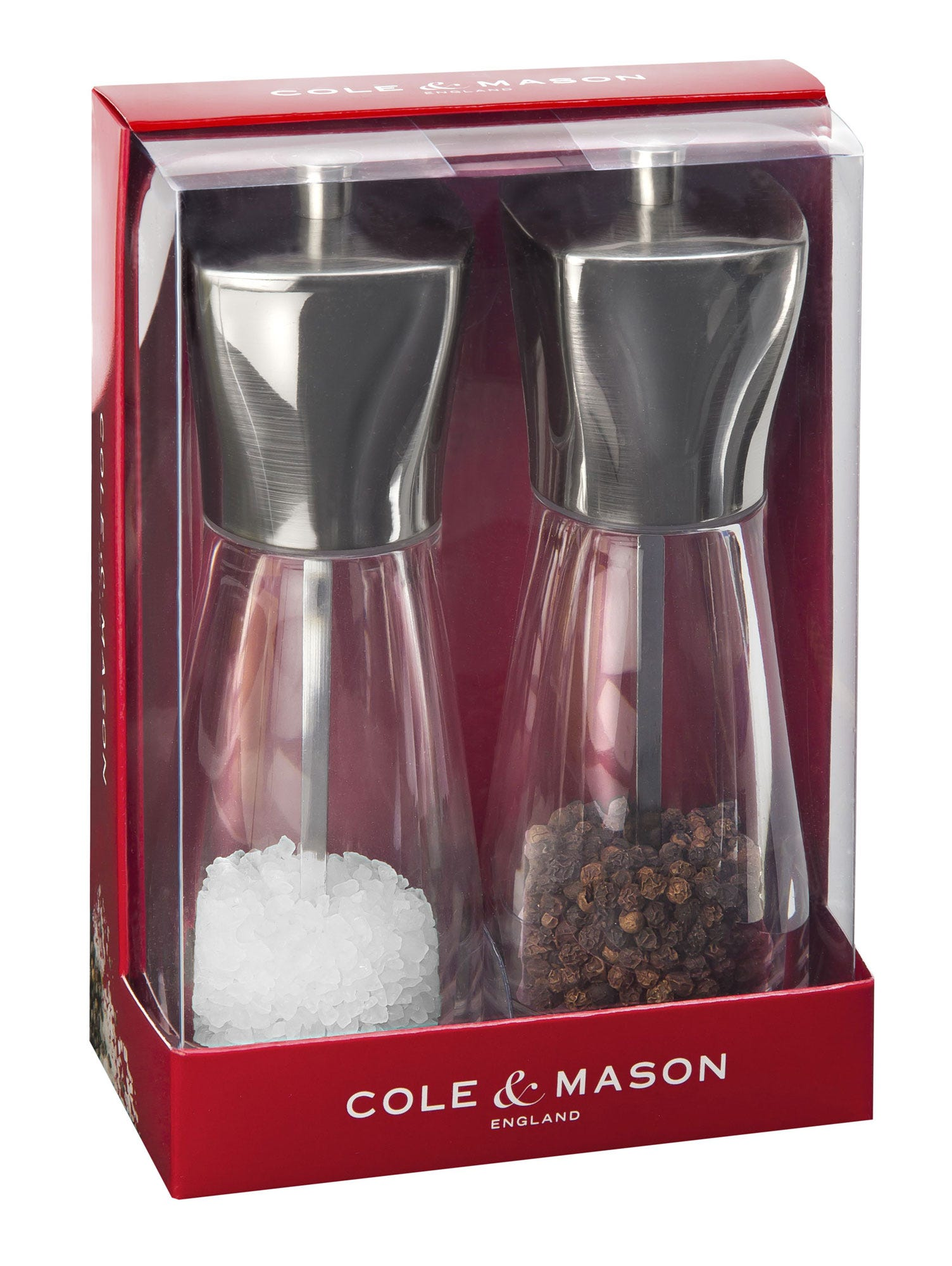 Compare prices for Cole and Mason Rye Stainless Steel Top Salt and Pepper Mills