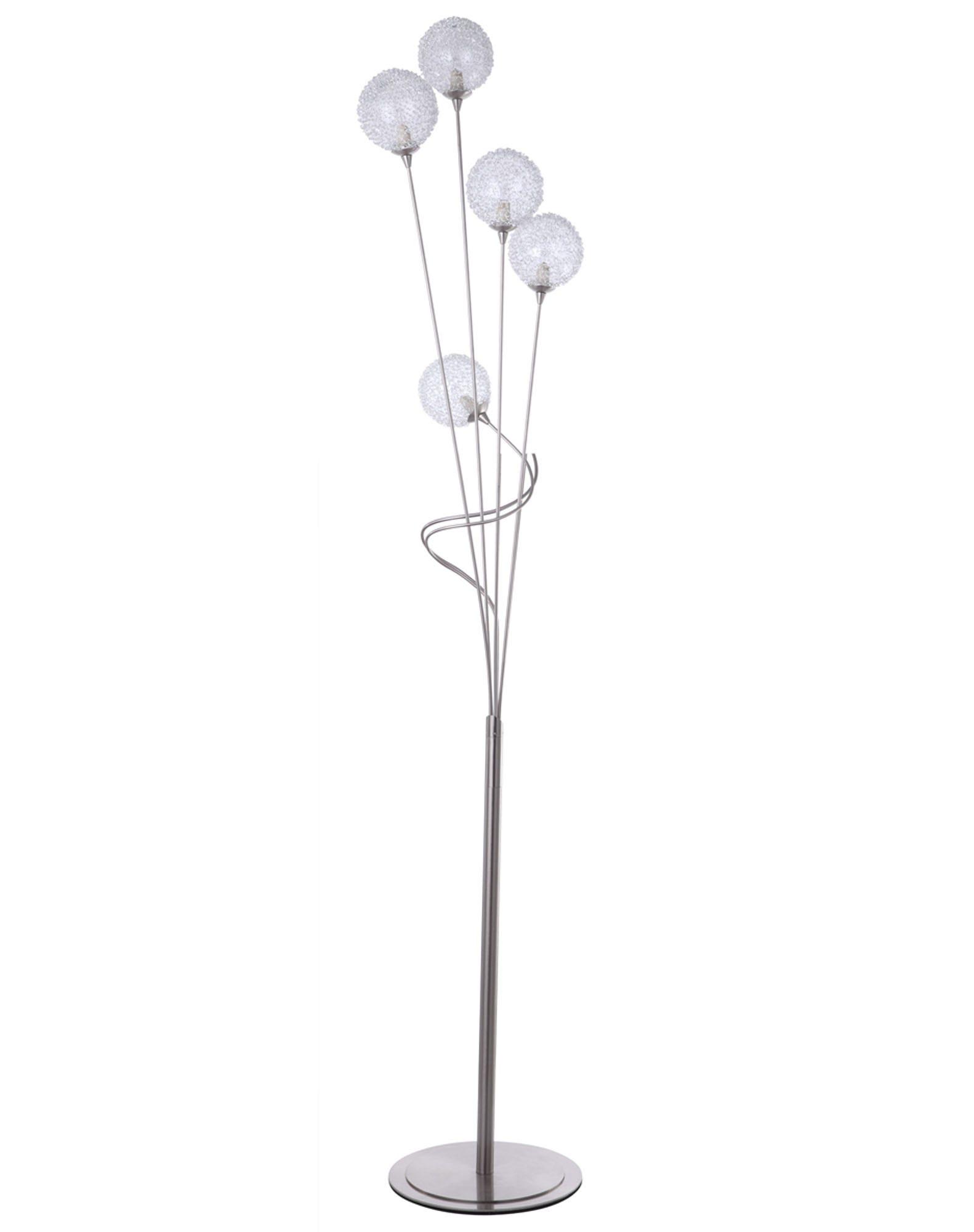 Litecraft Allium 5 Light Satin Nickel Floor Lamp