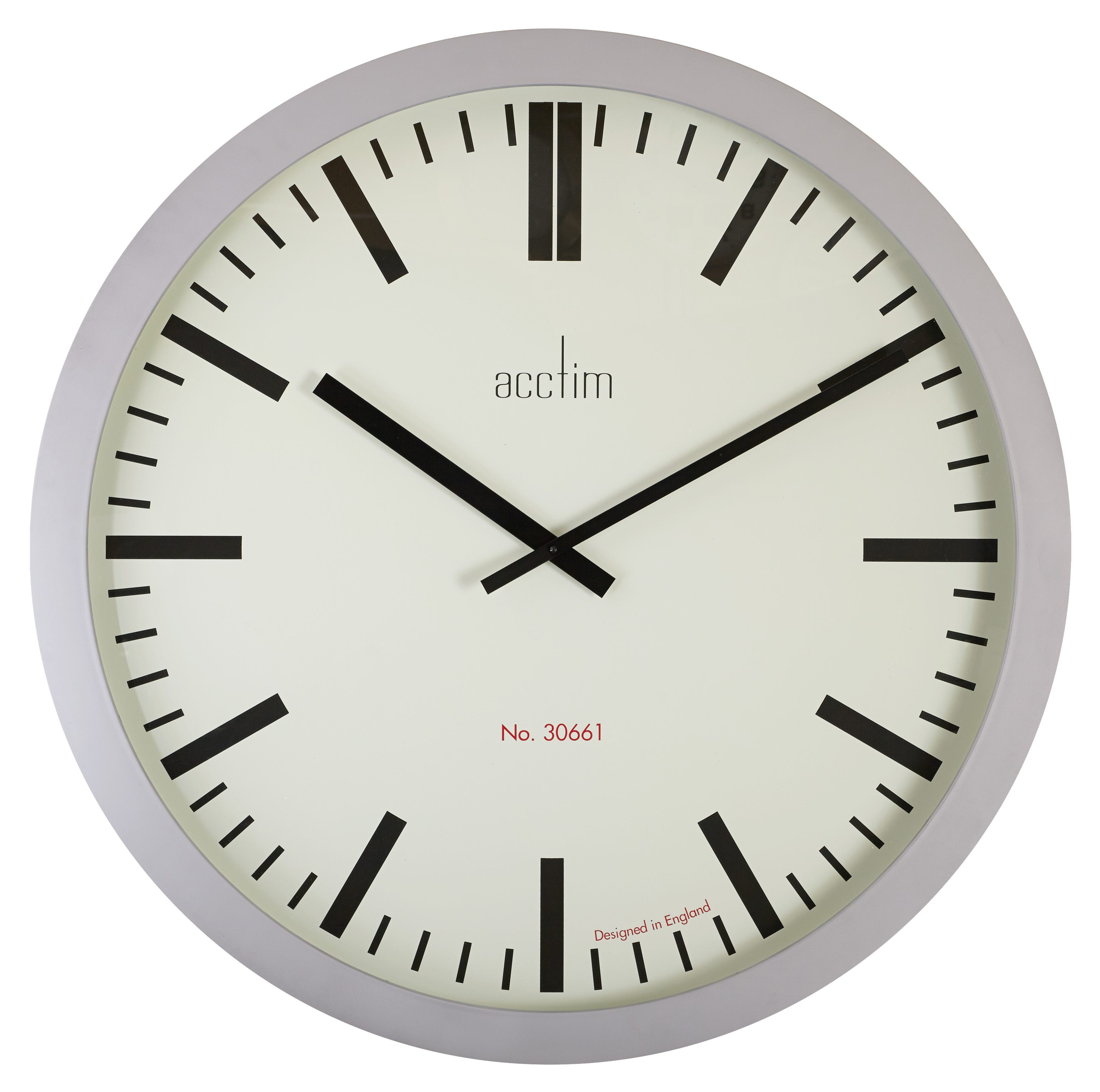 Compare prices for Acctim Monument 90cm Silver Baton Dial Wall Clock