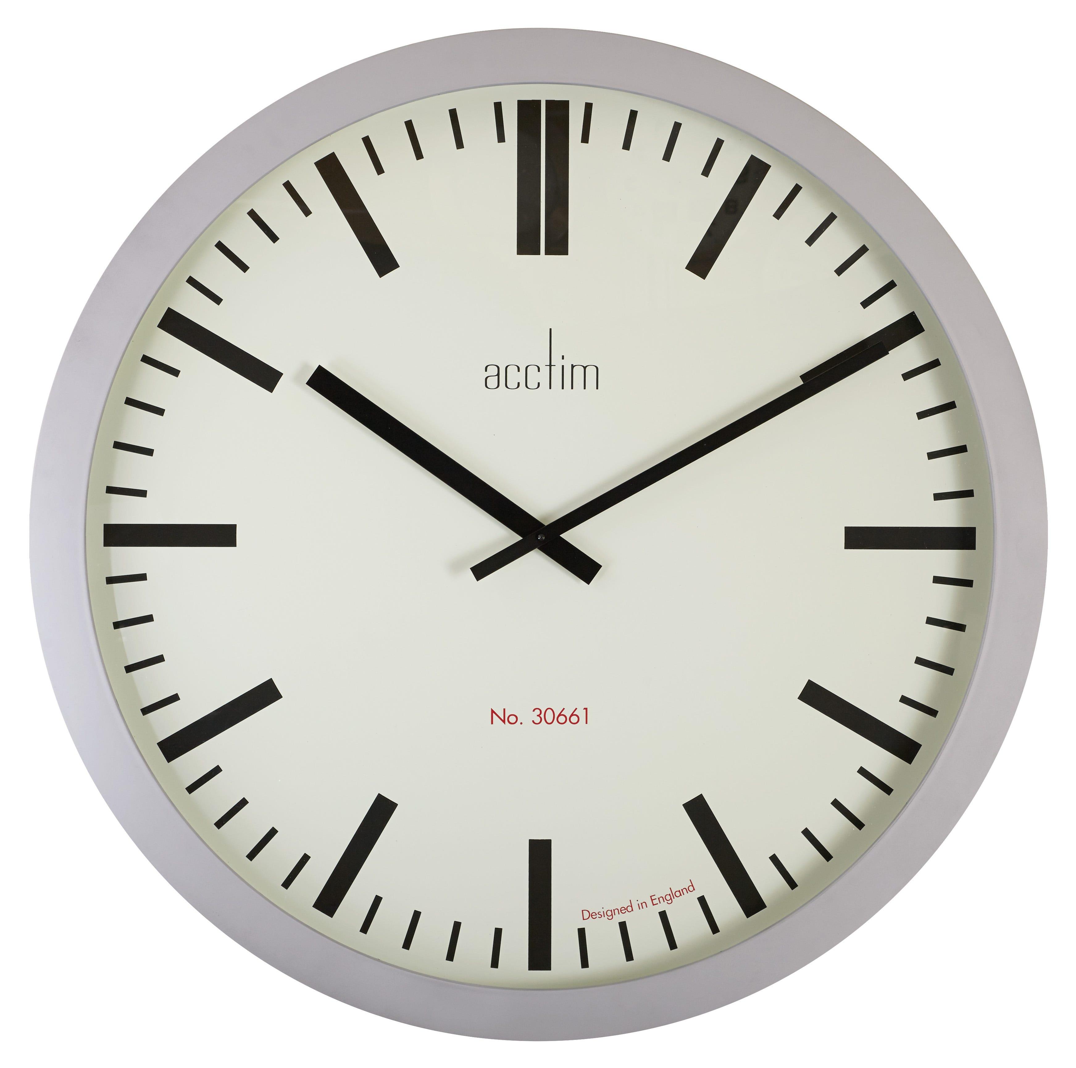 Acctim maldon mini alarm clock black price enligo acctim monument 90cm silver baton dial wall clock amipublicfo Choice Image