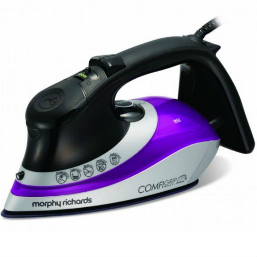 Morphy Richards Comfigrip Steam Iron - Black/Plum