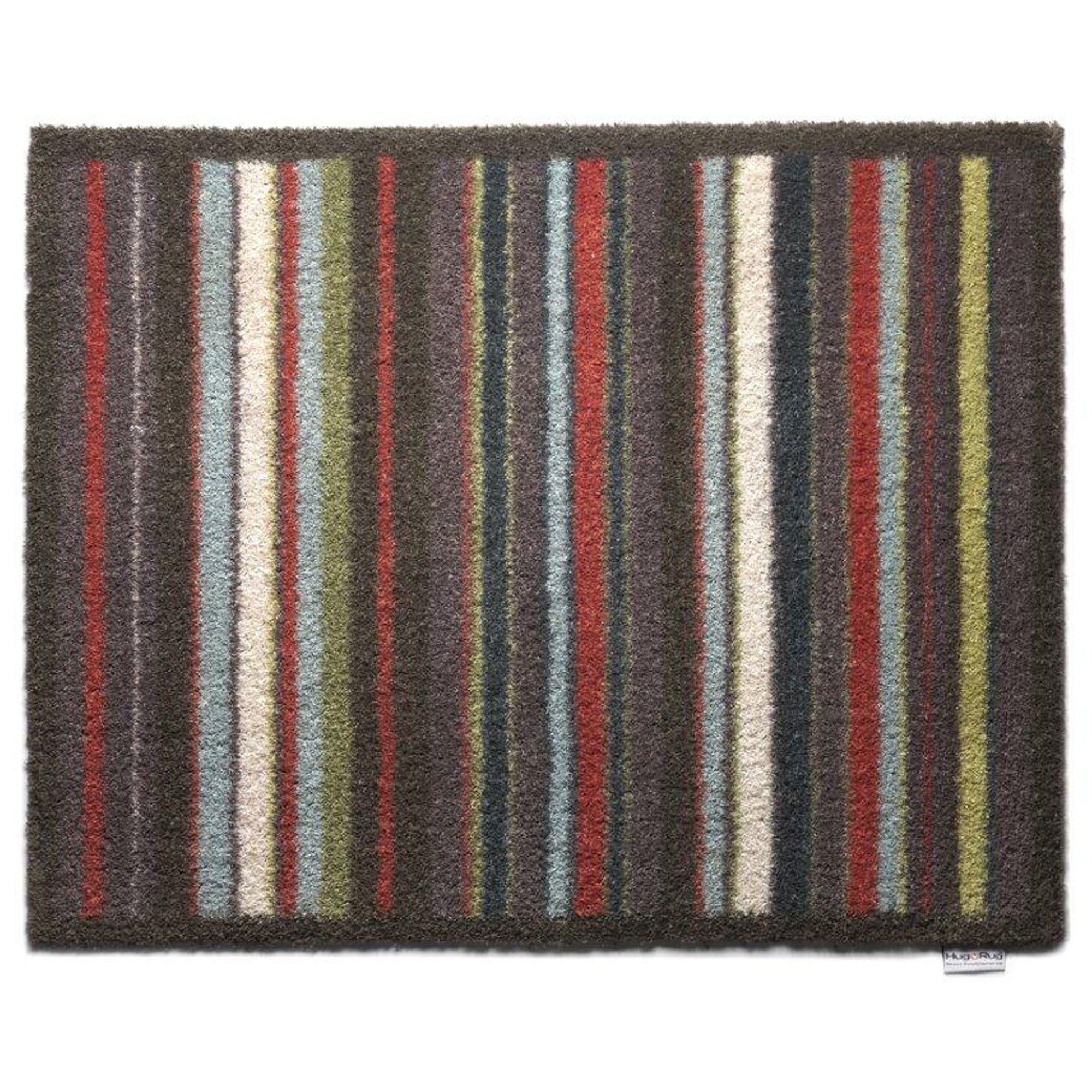 Compare prices for Hug Rug 65 x 85cm Stripe Doormat - Cool