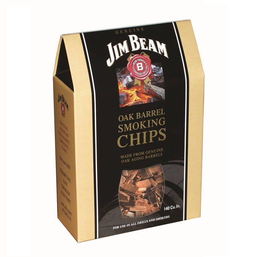 Robert Dyas/Outdoors/Garden Furniture & BBQ's/Jim Beam Oak Barrel Chips – 600g