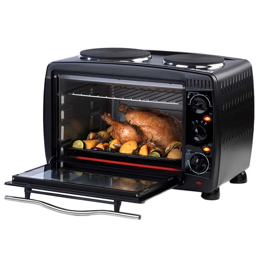 Image of Salter 28 Litre Mini Toaster Oven with 2 Hotplate Hobs