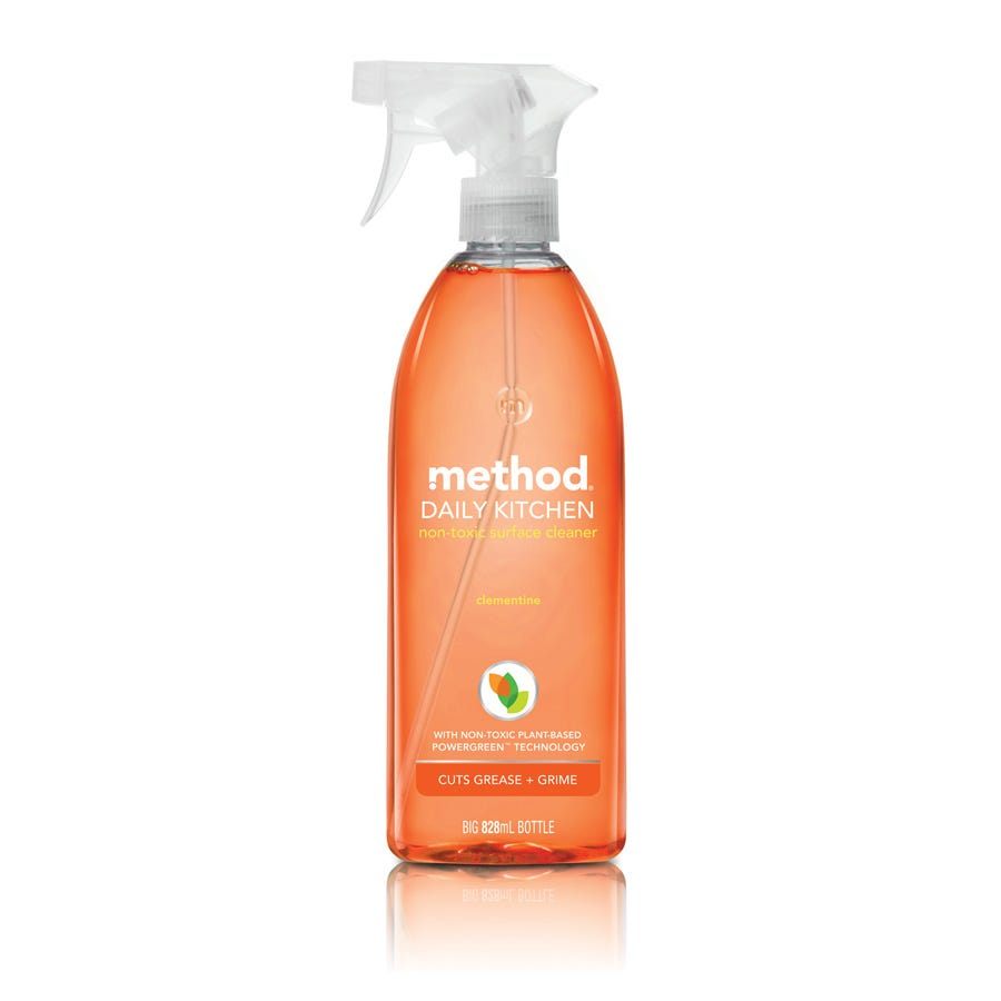 Image of Method Daily Kitchen Surface Cleaner Clementine 828ml