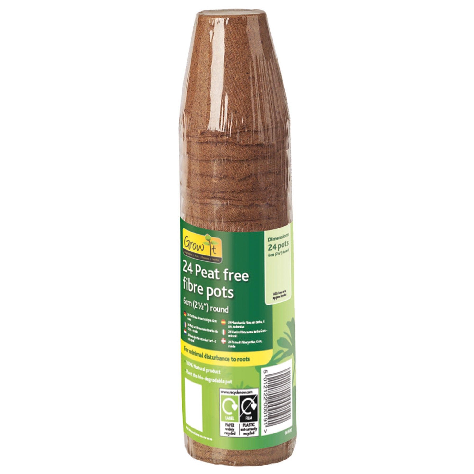Compare prices for Gardman Peat-Free Fibre Pots - 24 Pack