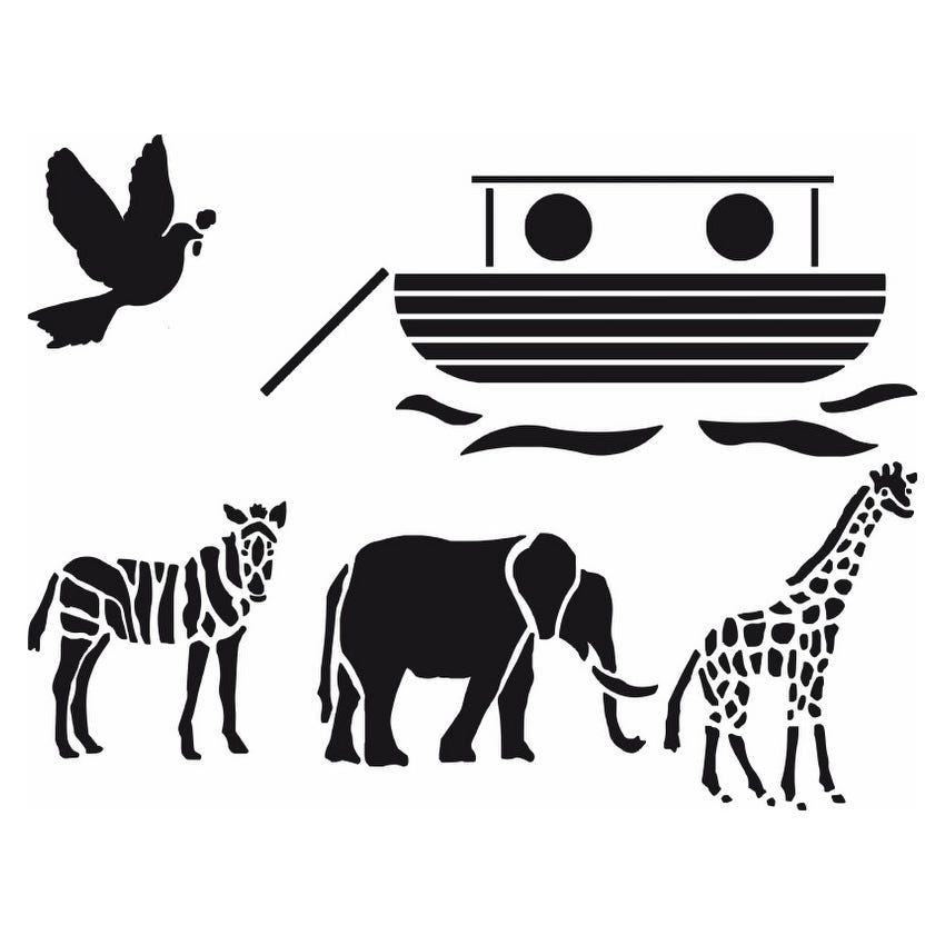 Image of Polyvine Noahs Ark Stencil (2 Pieces)