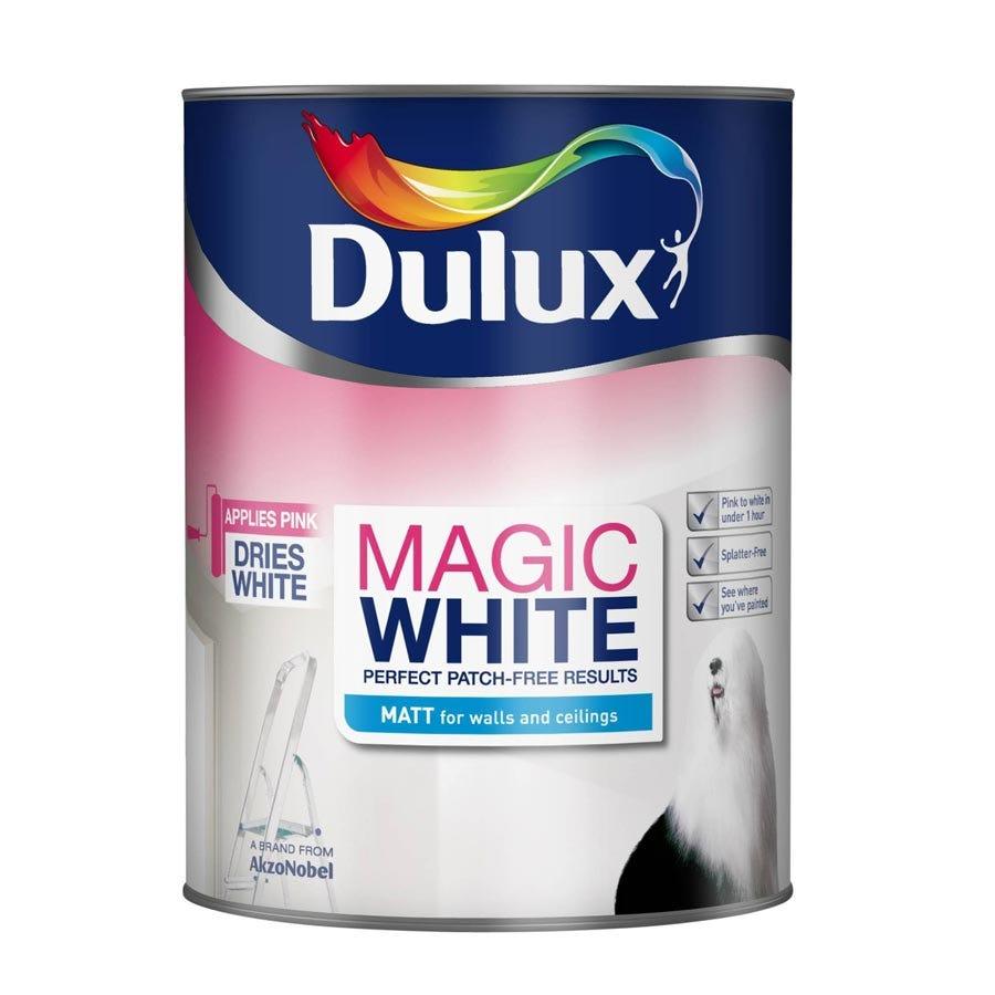 Image of Dulux Magic White Pure Brilliant White - Matt - 2.5L
