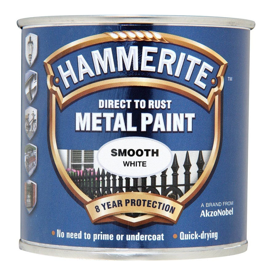 Compare prices for Hammerite Smooth White Paint - 250ml