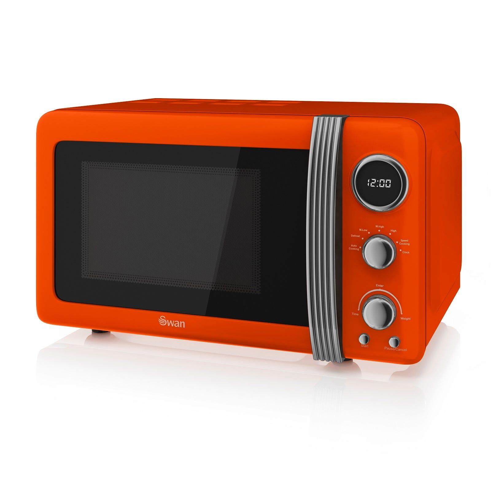 Swan SM22030ON 800W 20L Digital Solo Microwave - Orange