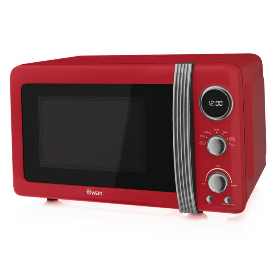 Swan SM22030RN Retro 800W 20L Digital Solo Microwave - Red