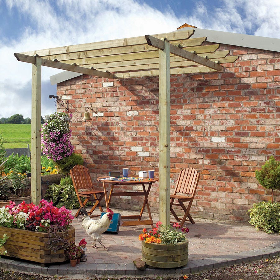 Compare prices for Grange Fencing Traditional Patio Pergola With Posts