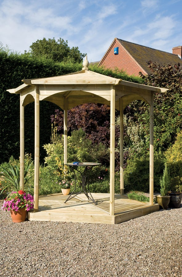 Compare prices for Grange Fencing Budleigh Hexagon Wooden Gazebo