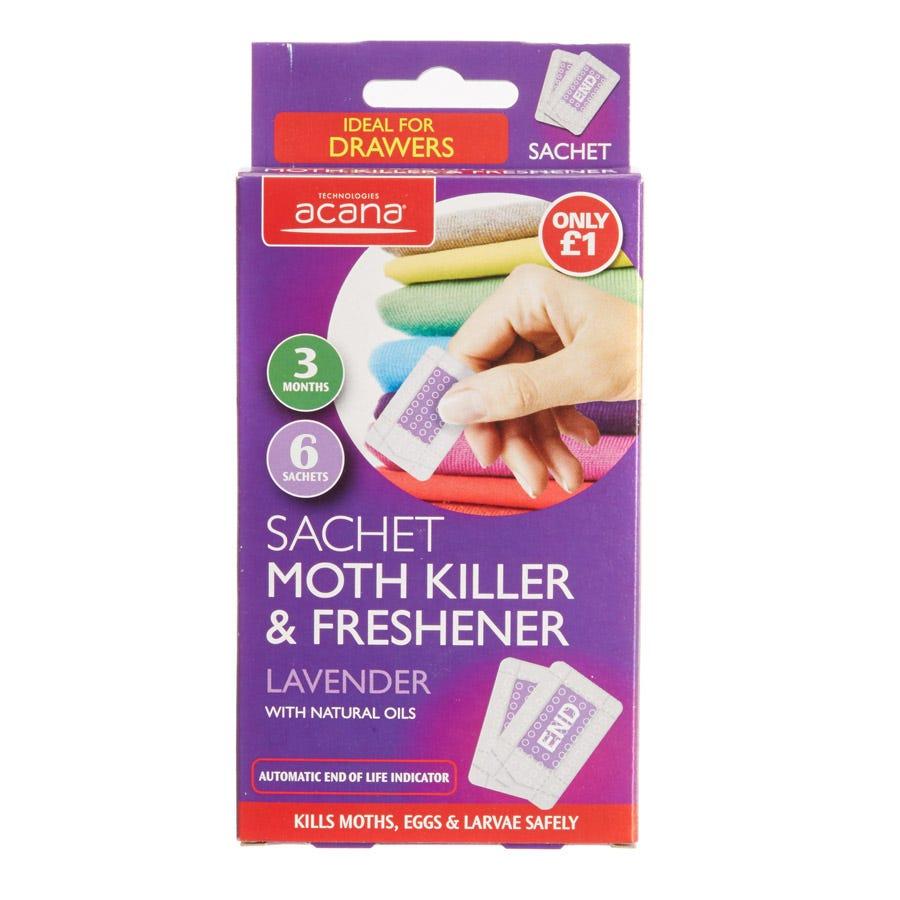 Acana Sachet Moth Killer & Freshener - 6 Pack