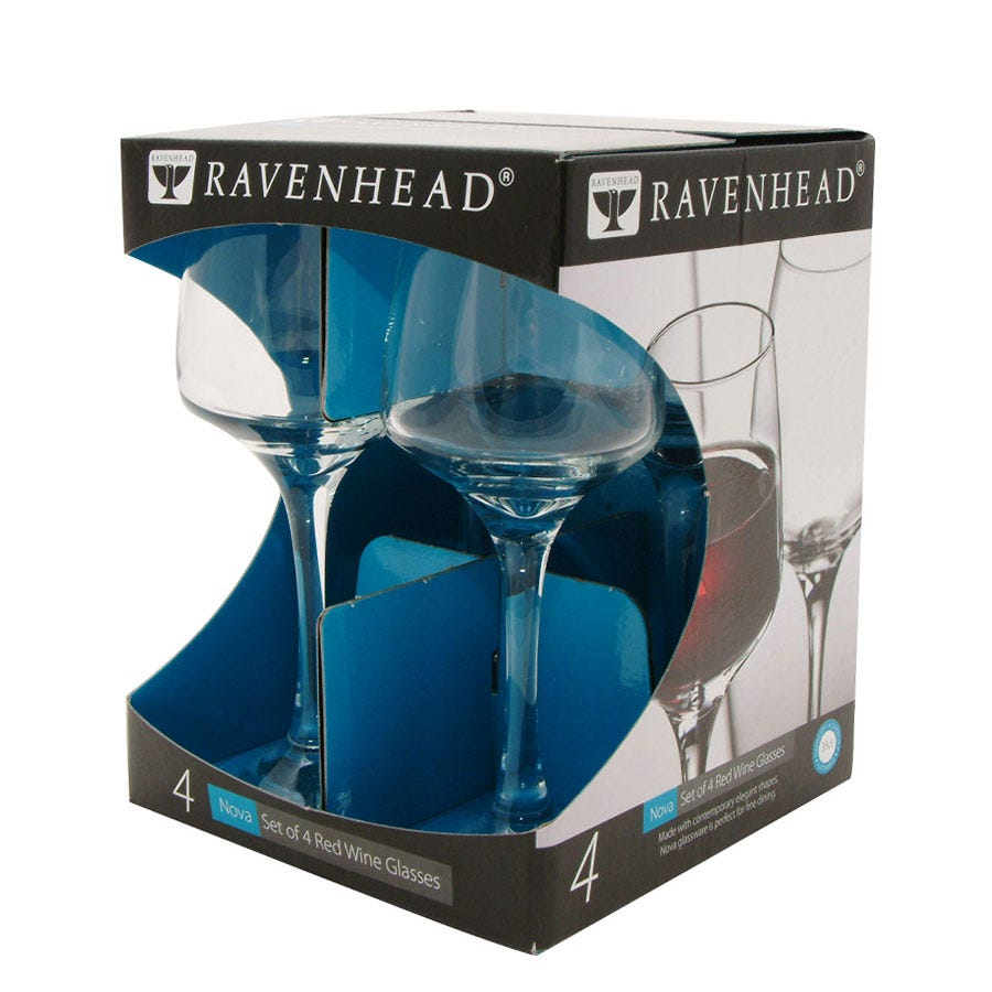Image of Ravenhead Nova Red Wine Glasses – Set of 4