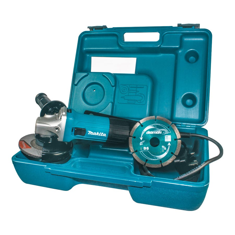 Compare prices for Makita 115mm Angle Grinder In Carry Case With Diamond Blade