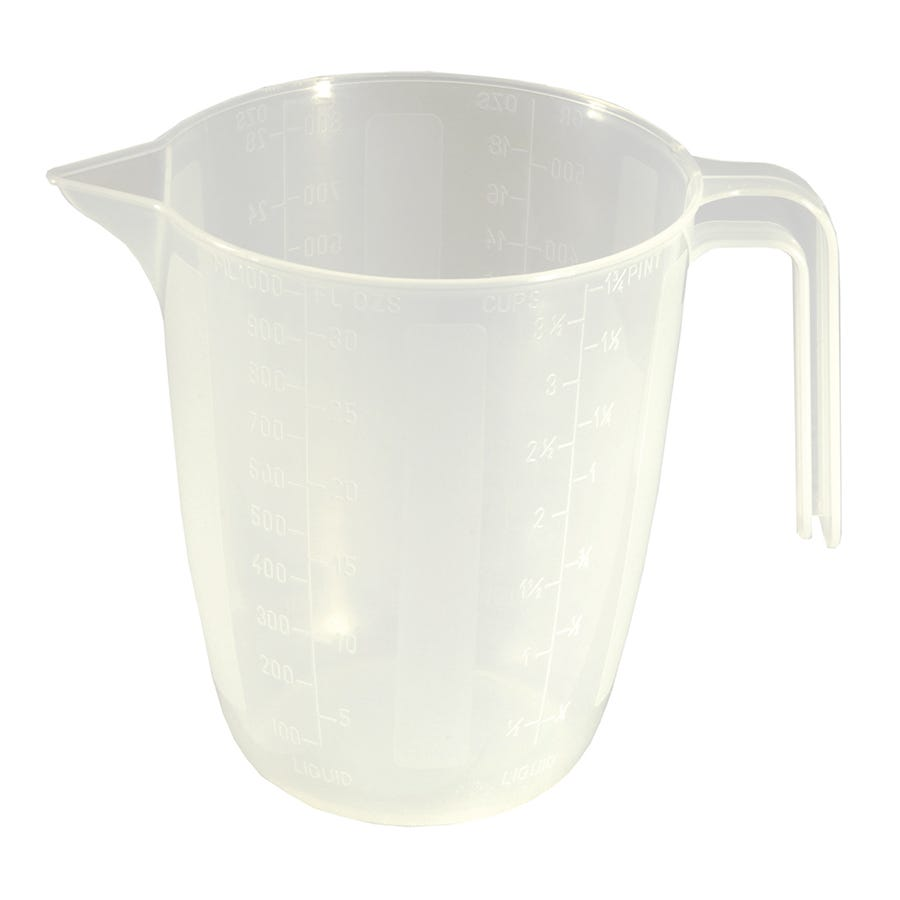 Image of Chef Aid Microwave Safe Measuring Jug - 1 Litre