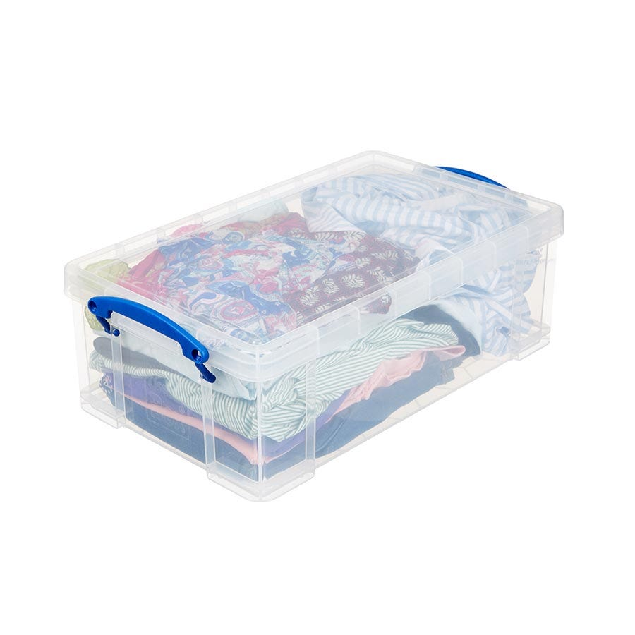Image of Really Useful 12L Plastic Storage Box - Clear