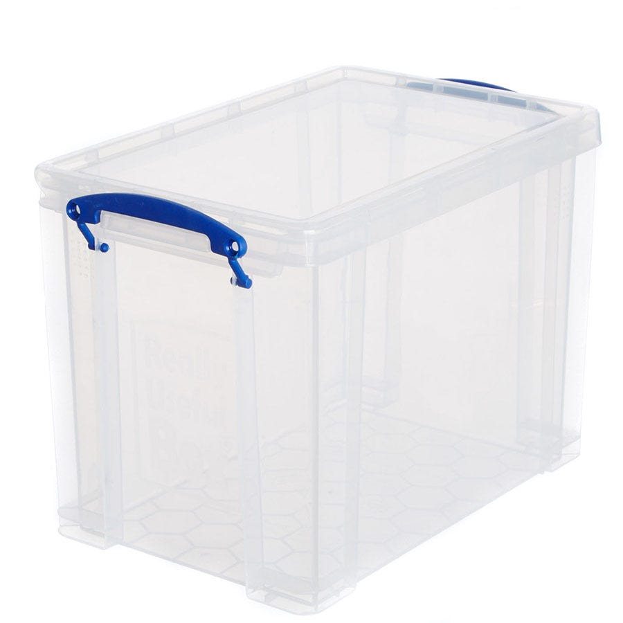 Image of Really Useful 19L Plastic Storage Box - Clear