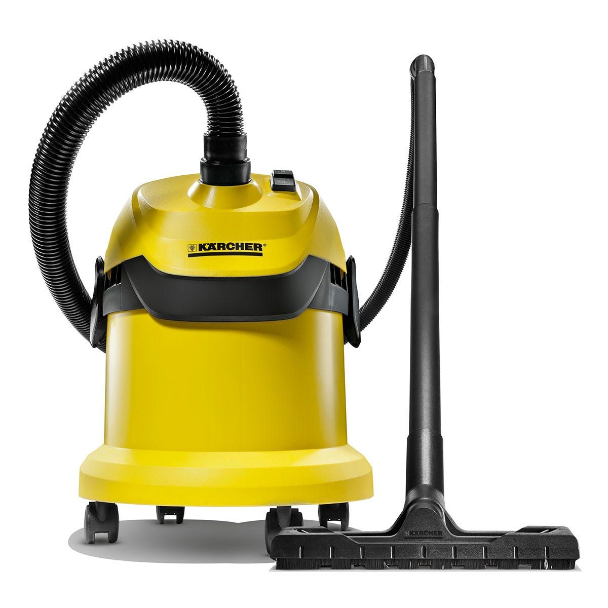 Karcher 16297630 WD2 Wet and Dry 1000W Vacuum Cleaner - Yellow