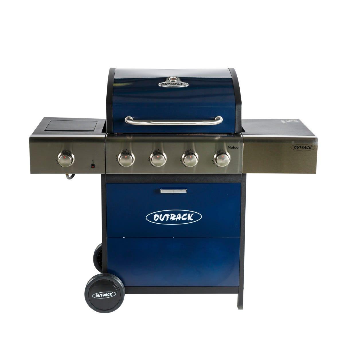 Outback Meteor 4-Burner Gas BBQ - Blue