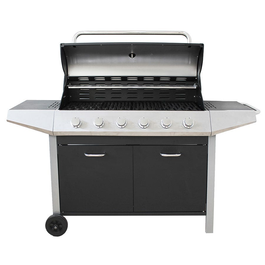 Compare cheap offers & prices of Flamemaster Flamemaster Ultimate Chef 6-Burner Gas BBQ manufactured by Flamemaster