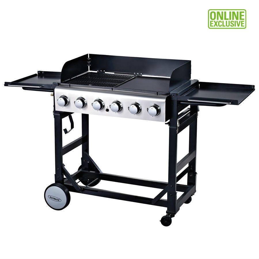 Image of Outback Party 6-Burner Gas Barbecue