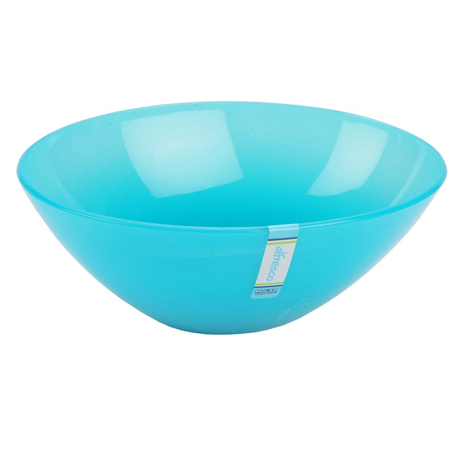 Robert Dyas/Outdoors/Birds & Pets/Alfresco Oval Small Bowl - Turquoise