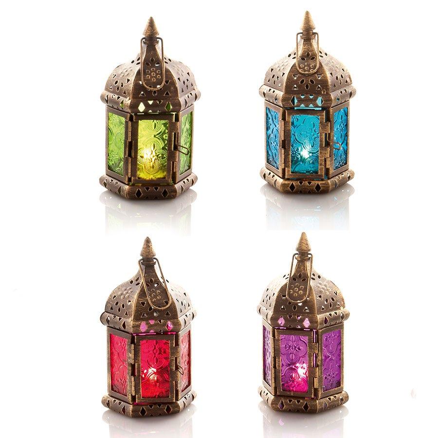 17cm Moroccan Lantern - 4 Assorted