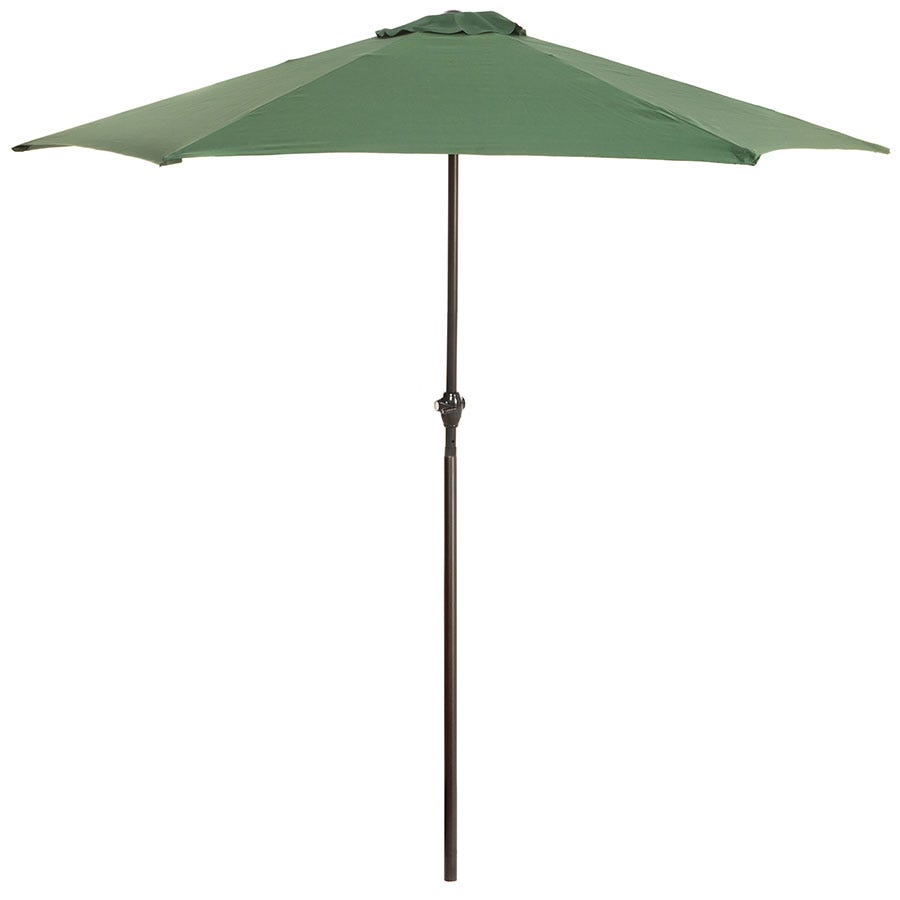 Kingfisher 2.7m Large Garden Parasol with Metal Frame (base not included) - Dark Green