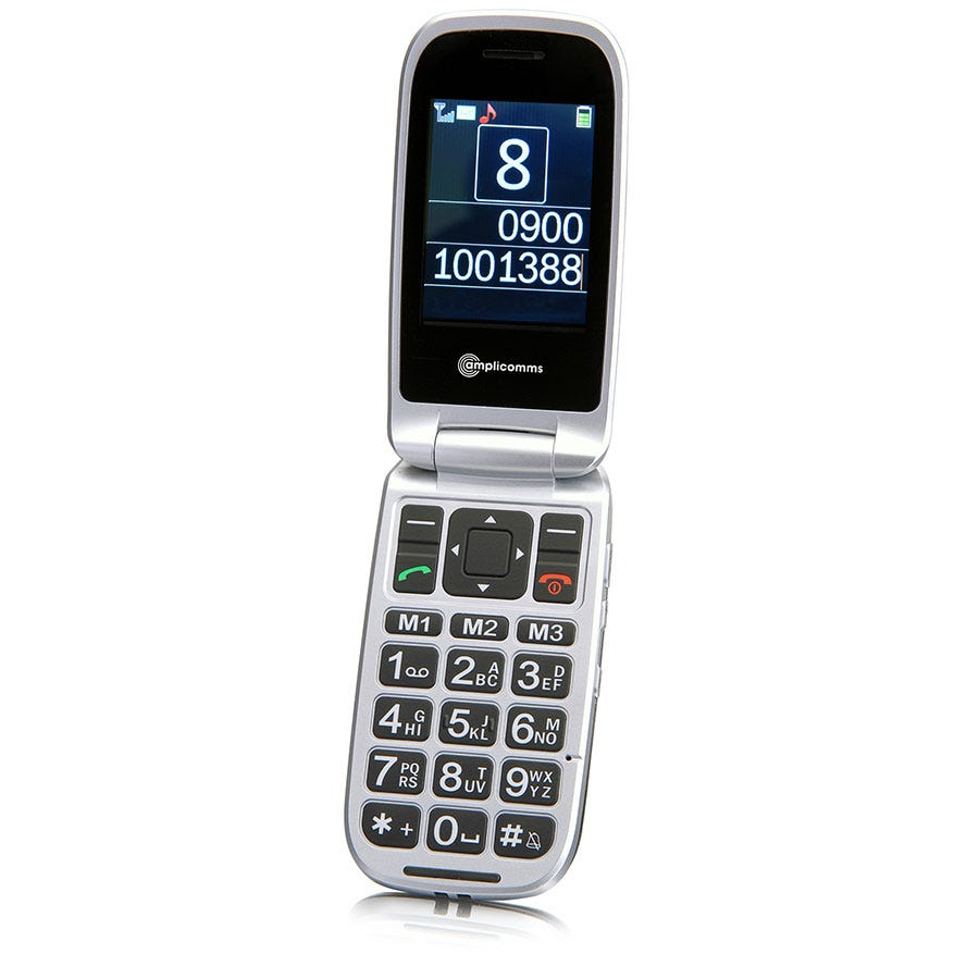 Amplicomms Highly Amplified Clam Shell Mobile Phone M7500