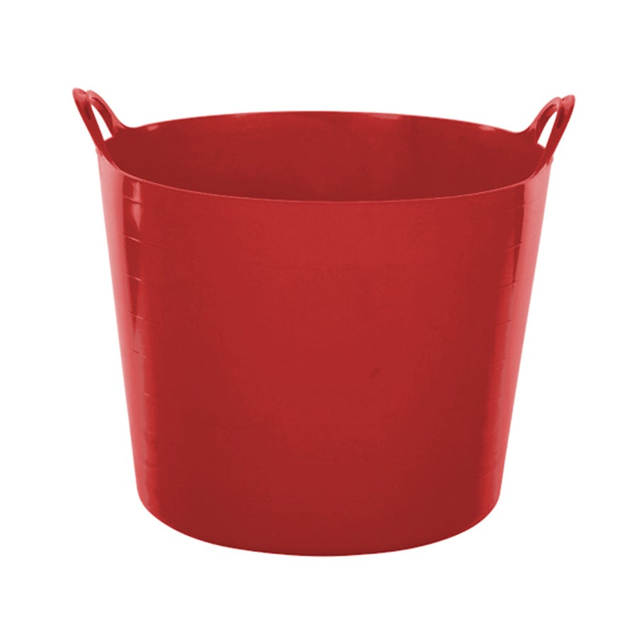 Compare prices for Whitefurze Flexible Tub 39L Red