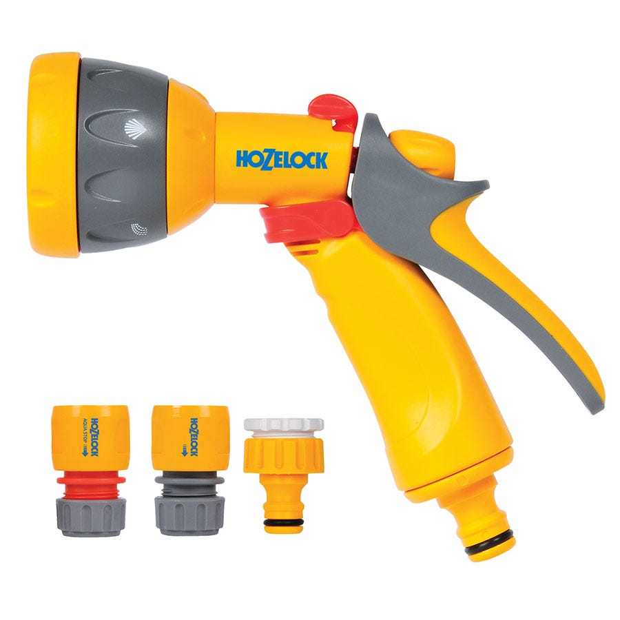 Compare prices for Hozelock 2347 Multi Spray Garden Watering Gun Starter Set
