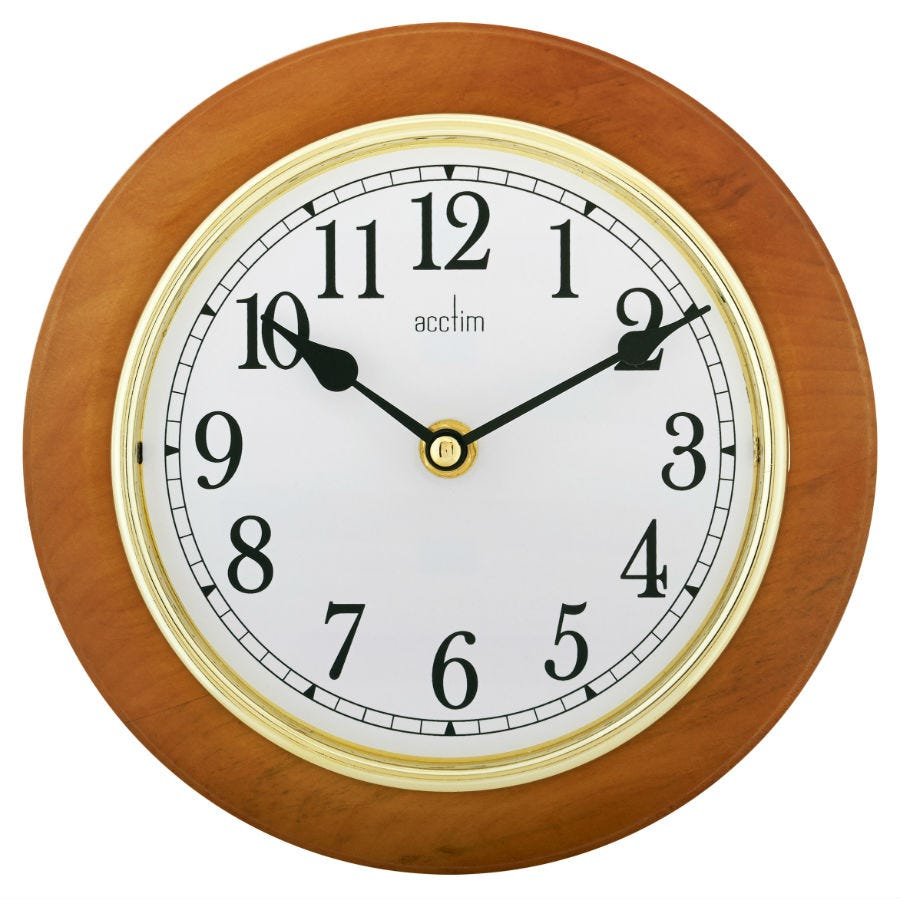 Compare cheap offers & prices of Acctim Maine 205mm Wooden Wall Clock manufactured by Acctim