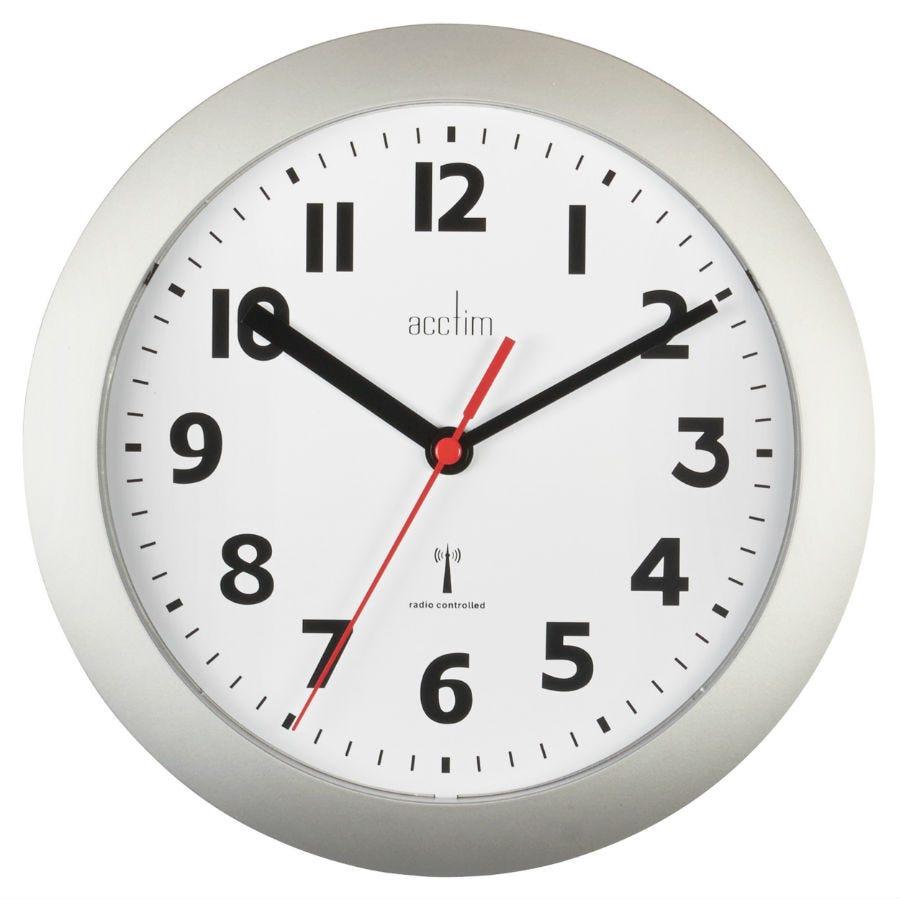 Image of Acctim Parona Radio Controlled Silver 23cm Wall Clock