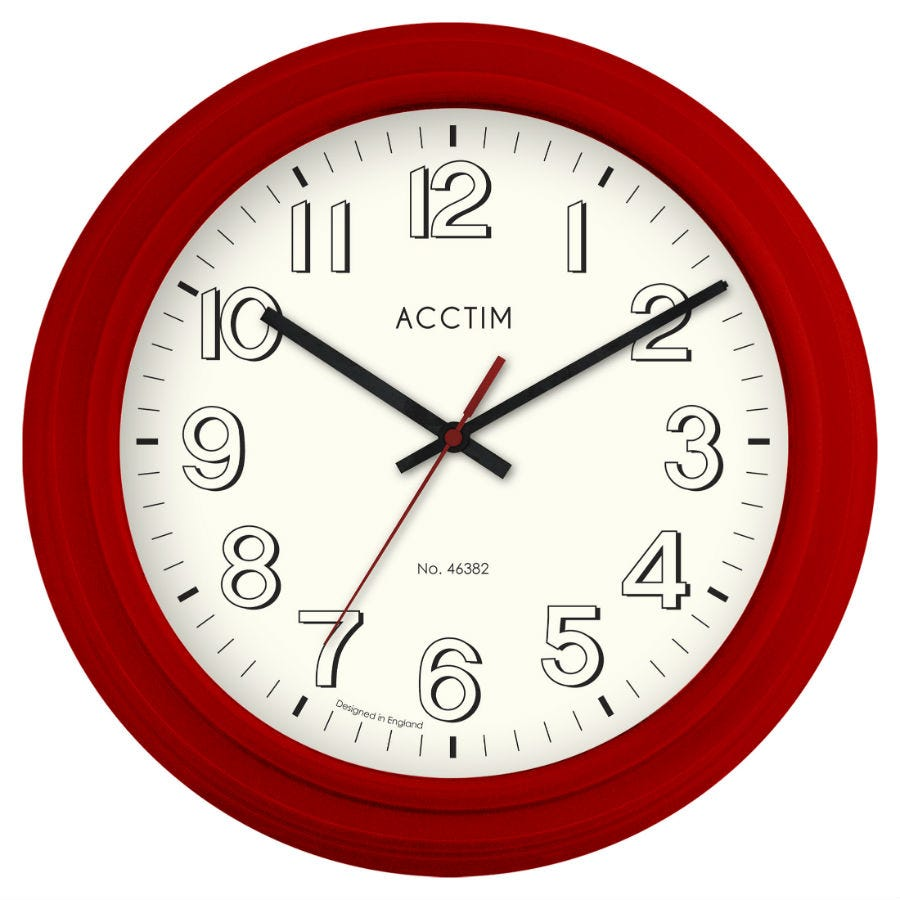 Acctim Burton Red Wall Clock