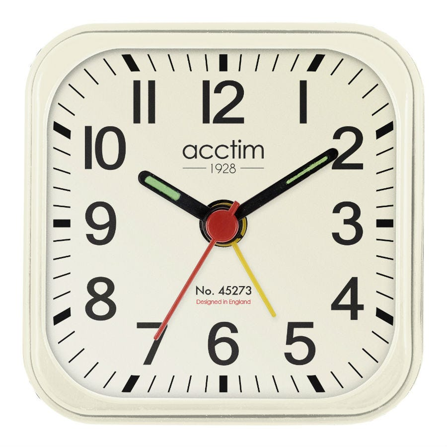 Compare cheap offers & prices of Acctim Maldon Mini Alarm Clock - Cream manufactured by Acctim