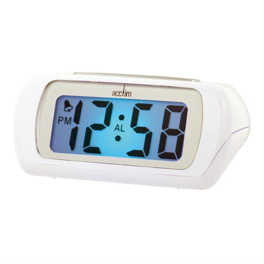 Acctim Auric LCD Alarm Clock White