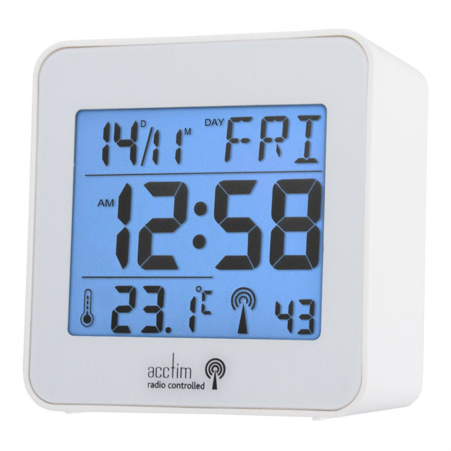 Acctim Kale Radio Controlled LCD Alarm Clock