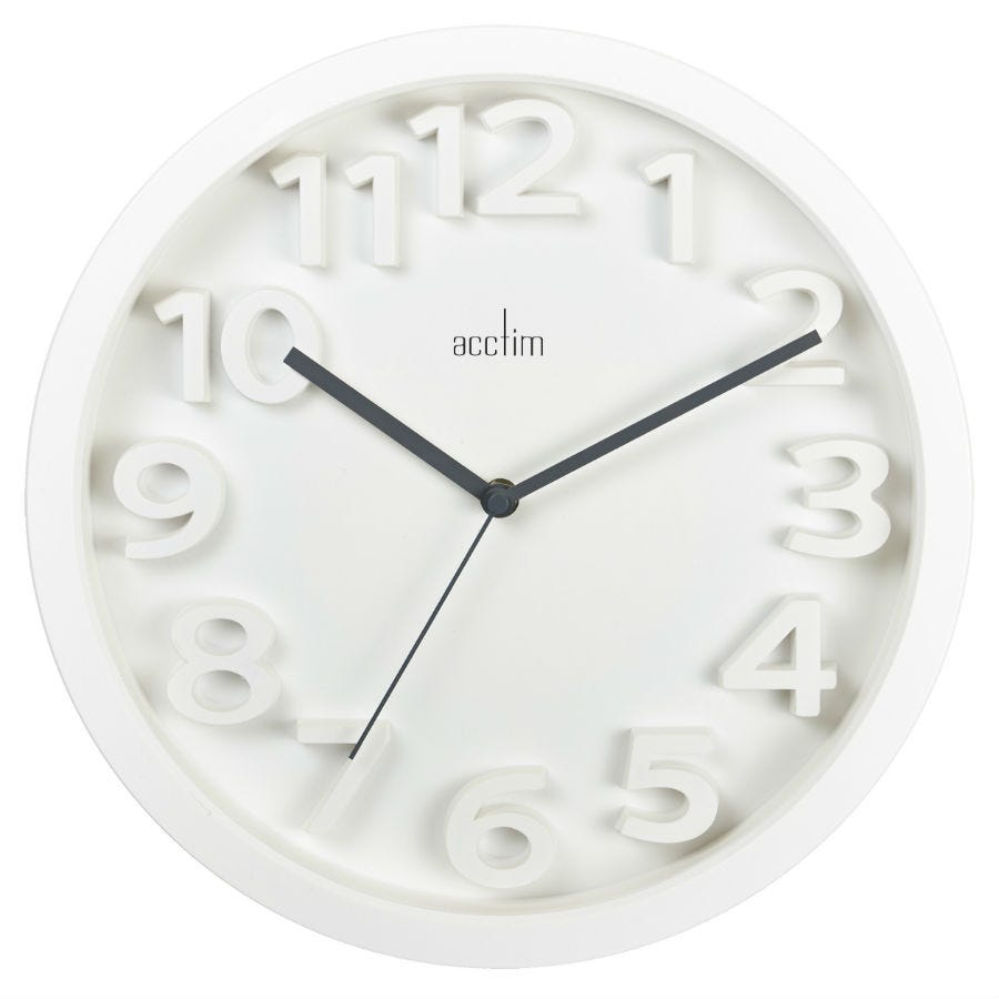Compare cheap offers & prices of Acctim Logann 33cm Raised Number Wall Clock manufactured by Acctim