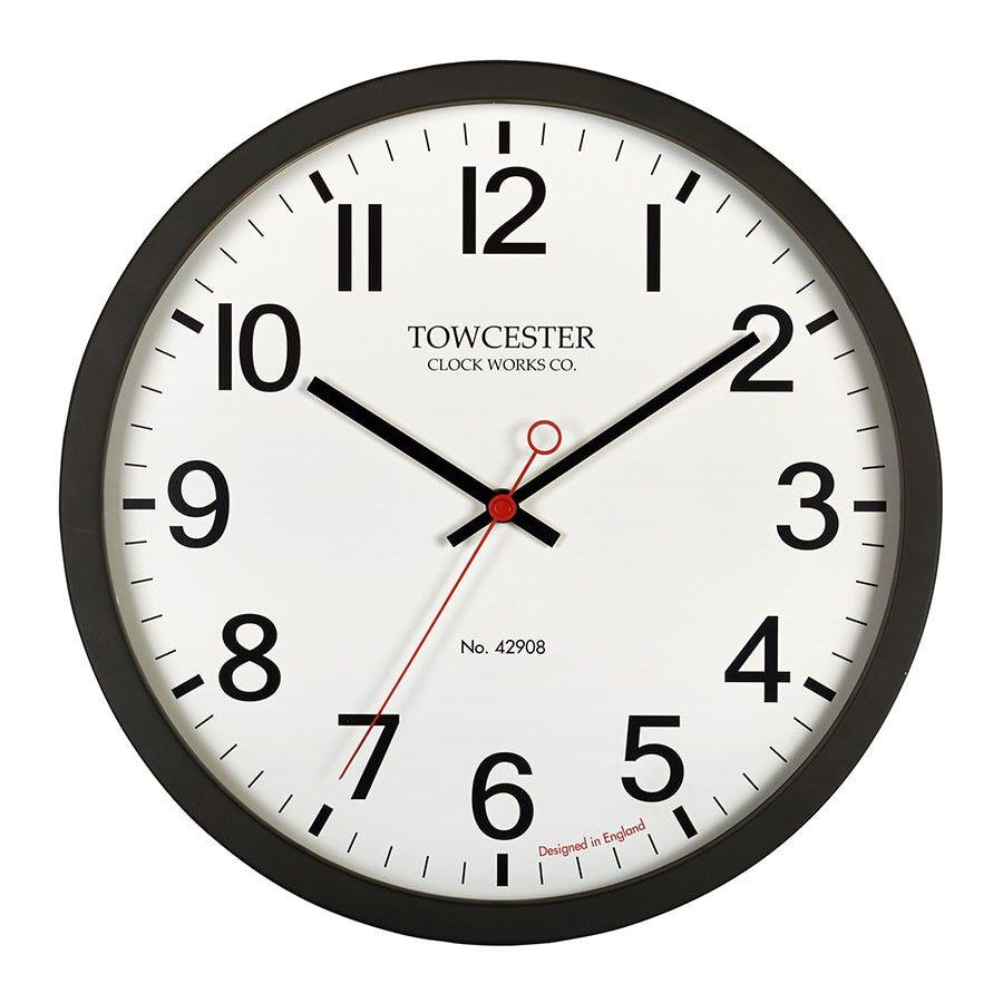 Acctim Kempston Black Wall Clock