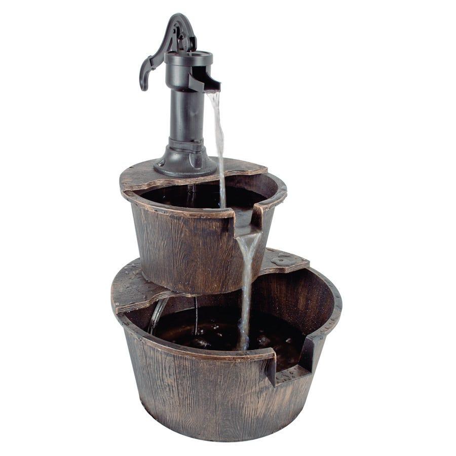 2 Tier Barrel Fountain