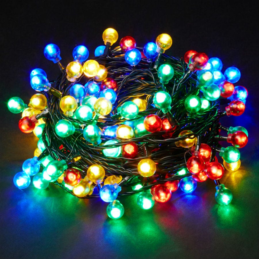 20 Battery-Operated Multi-Coloured Static LED Berry Indoor Lights