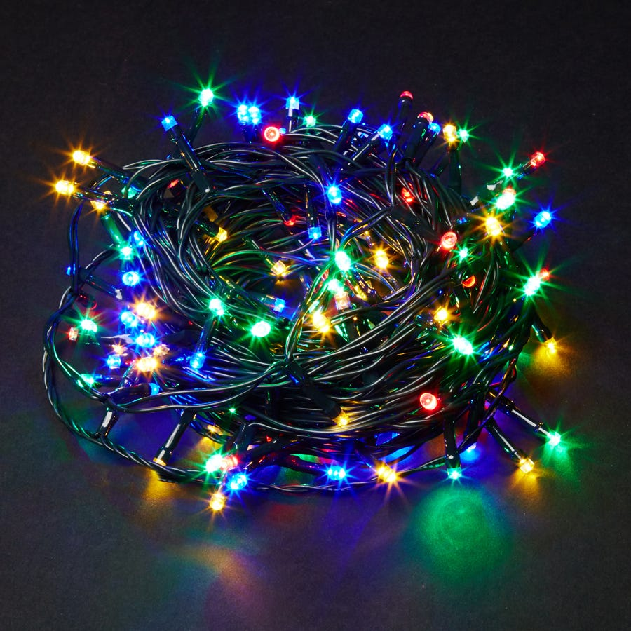 Image of 160 Multi-Coloured Berry Static LED Indoor & Outdoor Lights - Mains Powered