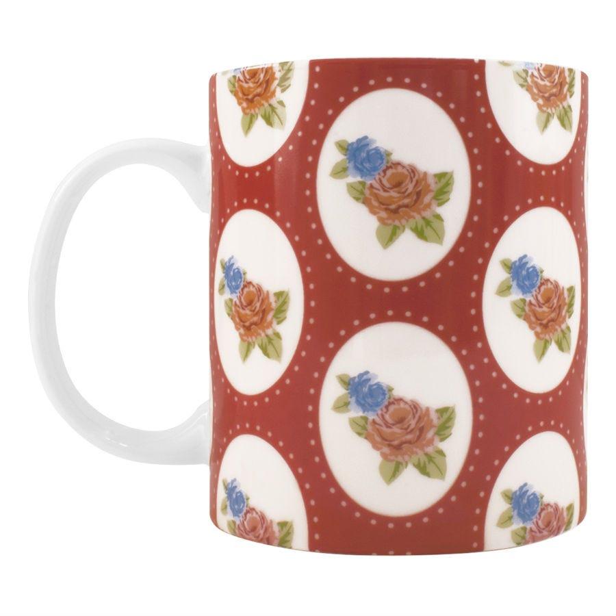 Robert Dyas/Home Interiors/Kitchen/Floral Mug – Red