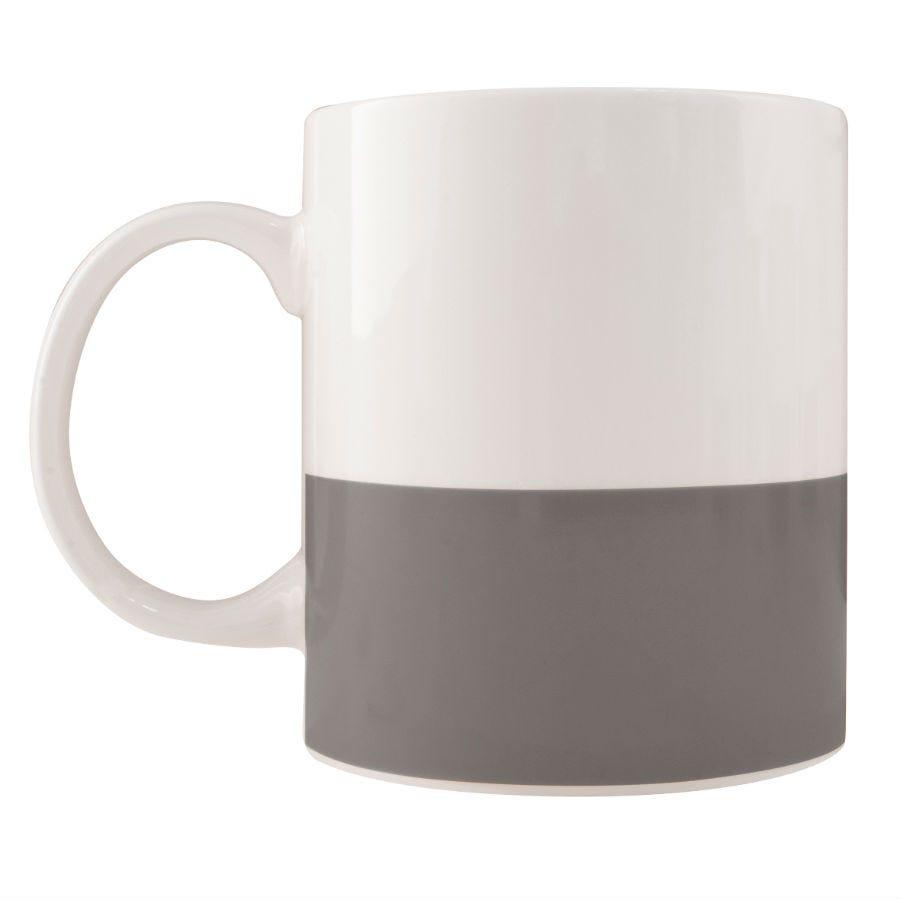 Robert Dyas/Home Interiors/Kitchen/Colour Block Mug – Grey